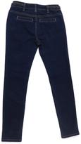 ZCO Dark Blue Braid-Accent Skinny Jeans - Toddler & Girls