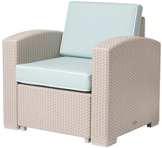 Lagoon Magnolia Rattan Club Chair, Grey