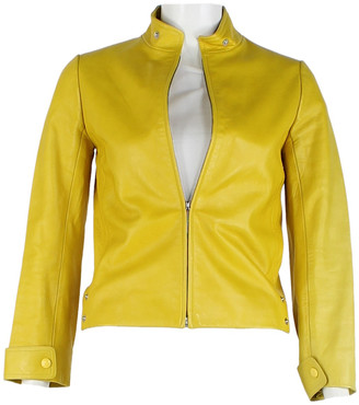 Louis Vuitton Yellow Leather Jackets