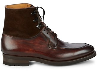 Magnanni Leather Lace-Up Boots