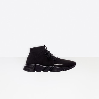 Balenciaga Speed in black knit and black sole unit