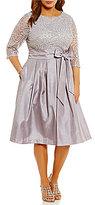 Jessica Howard Plus Soutache Taffeta Party Dress