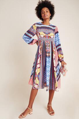 Marcelina Midi Dress By Bhanuni by Jyoti in Blue Size 2