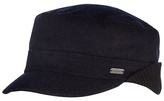 J By Jasper Conran Black Melton Ribbed Ear Flap Train Driver Hat