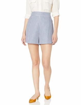 BCBGMAXAZRIA Women's Striped Flat Front Short