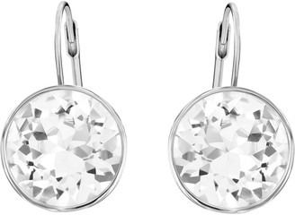 Swarovski Bella Drop Pierced Earrings with Clear Crystals and Rhodium Plated Setting a Part of the Bella Collection