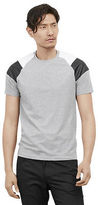 Kenneth Cole Short Sleeve Tee With Pleather And Mesh