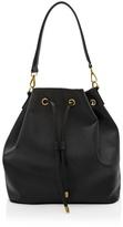 White House Black Market Leather Drawstring Bucket Bag