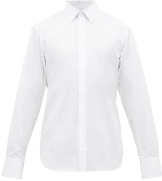 The Row Ethan Concealed Button Cotton Shirt - Mens - White