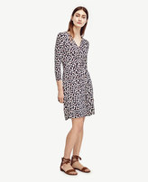 Ann Taylor Petite Gingko Wrap Dress