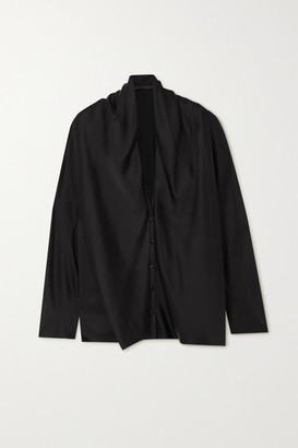Haider Ackermann Draped Silk Shirt - Black