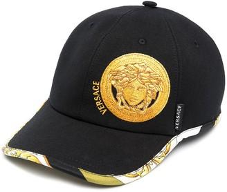 Versace Medusa-head motif baseball cap