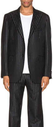 Cobra SC Peak Lapel Jacket in Metallic Pinstripe | FWRD