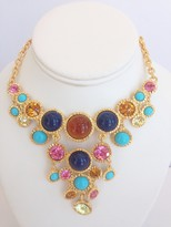 The Well Appointed House BARGAIN BASEMENT ITEM: Kenneth Jay Lane Gold Flawed Topaz/Turquoise/Lapis/Multi Pastel Bib Necklace - IN STOCK IN OUR GREENWICH STORE FOR QUICK SHIPPING