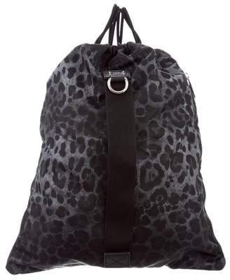 Dolce & Gabbana Leopard Print Drawstring Backpack