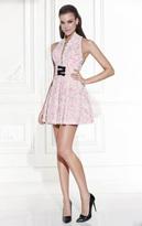 Tarik Ediz Halter Neck A-Line Dress 90446