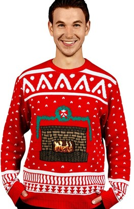 Morphsuits Digital Dudz Fireplace Ugly Christmas Sweater