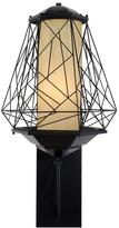 Varaluz Wright Stuff 1-Light Black Outdoor Large Sconce