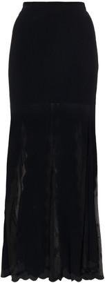 Alexander McQueen Scalloped Jacquard-knit Maxi Skirt
