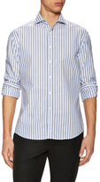 Michael Bastian Striped Spread Collar Sportshirt