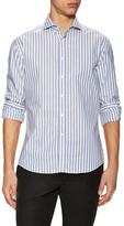 Michael Bastian Striped Spread Collar Sportshirt