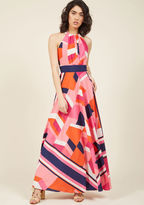 Eliza J Shape, Color, and Architecture Maxi Dress in 14