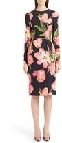 Dolce & Gabbana Women's Tulip Print Cady Sheath Dress
