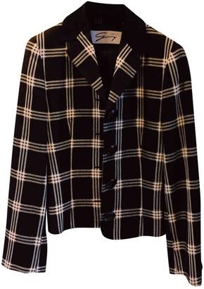 Genny Black Wool Jacket for Women Vintage