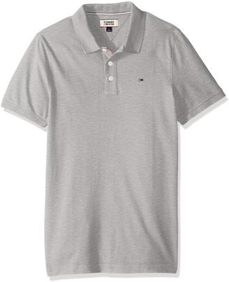 Tommy Hilfiger Men's Polo Shirt Slim Fit Original Flag with Short Sleeves