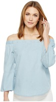 Calvin Klein Jeans Denim Off Shoulder Top