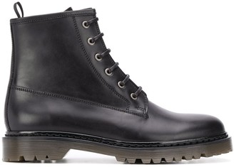 A.P.C. lace-up ankle boots