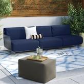 Kartell Pop Outdoor Three Seater Sofa Color: Sunbrella outdoor Blue