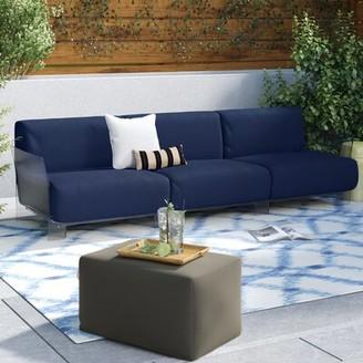 Kartell Pop Outdoor Three Seater Patio Sofa Cushion Color: Sunbrella Outdoor Blue