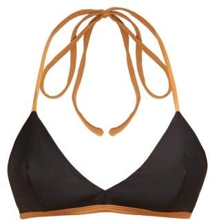 ALBUS LUMEN Halterneck Bikini Top - Black