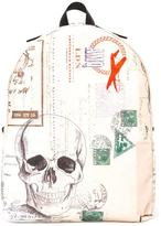 Alexander McQueen Letters From India backpack - men - Cotton/Leather/Nylon - One Size