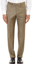 Incotex Men's B-Body Classic-Fit Wool Trousers-BROWN