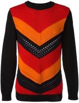 Balmain chevron stripe jumper - men - Cotton - S