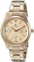 Titan Women's 9962WM01 Purple Analog Display Quartz Rose Gold Watch