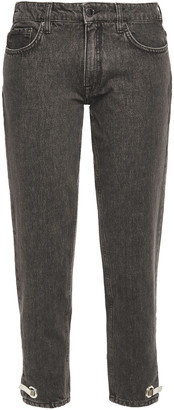 Victoria Victoria Beckham Embellished Low-rise Straight-leg Jeans