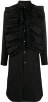 Comme des Garcons maxi ruffled shirt dress