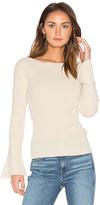 Central Park West Salzburg Pullover Cashmere Sweater in White