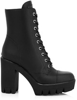 Thumbnail for your product : Giuseppe Zanotti Moyra Leather Combat Boots