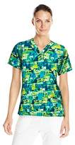 Carhartt Women's Cross-Flex Print Media Scrub Top