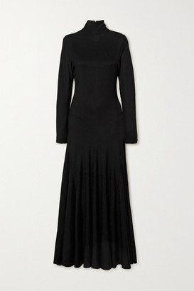 Bottega Veneta Stretch-jersey Turtleneck Maxi Dress - Black