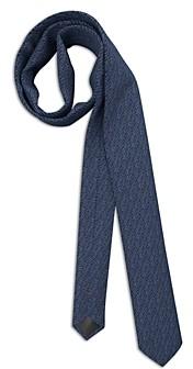 HUGO BOSS Silk Broken Dotted Stripe Skinny Tie