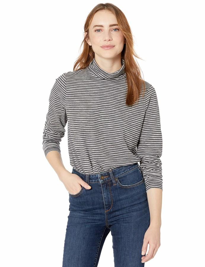 Goodthreads Womens Long Sleeve Vintage Cotton Turtleneck Brand