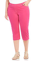 Allison Daley Plus Super Stretch Twill Pull-On Capri