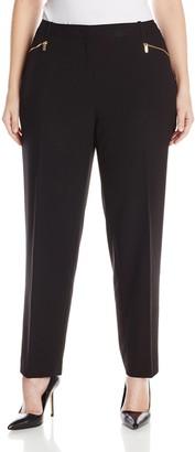 Calvin Klein Women's Size Slim Suiting Pant W/Zipper