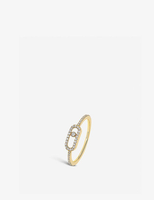 Messika Move Uno 18ct yellow-gold and pave diamond ring