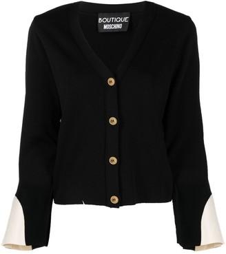 Boutique Moschino Contrast-Cuff Cardigan